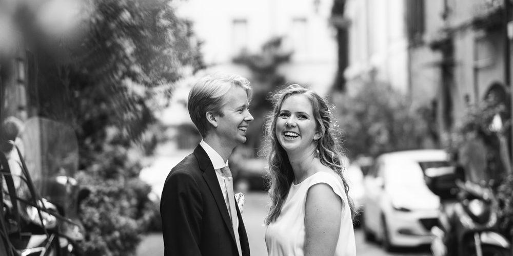 Swedish wedding in trastevere
