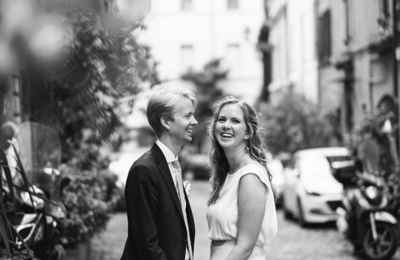 Swedish wedding in trastevere