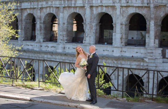 American wedding at colosseum