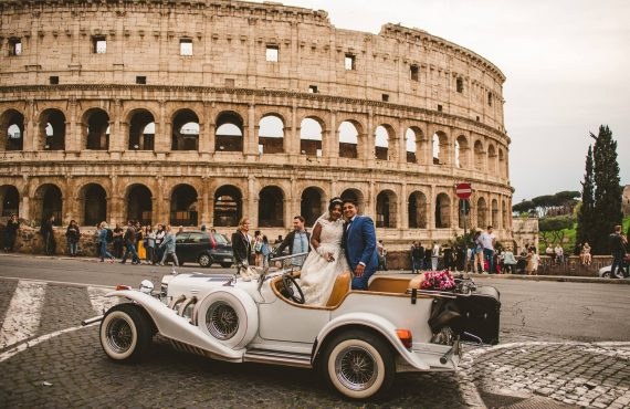 neetha and nevin during their wedding at colosseum