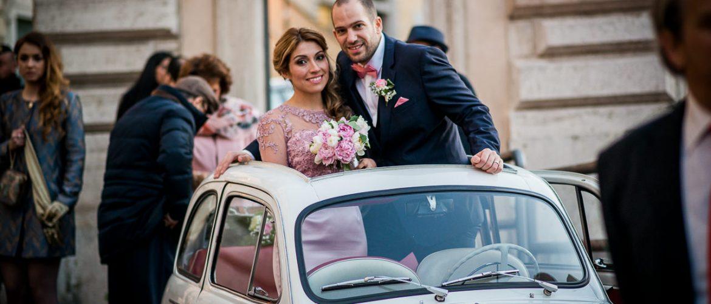 Fiat 500 vintage wedding Rome