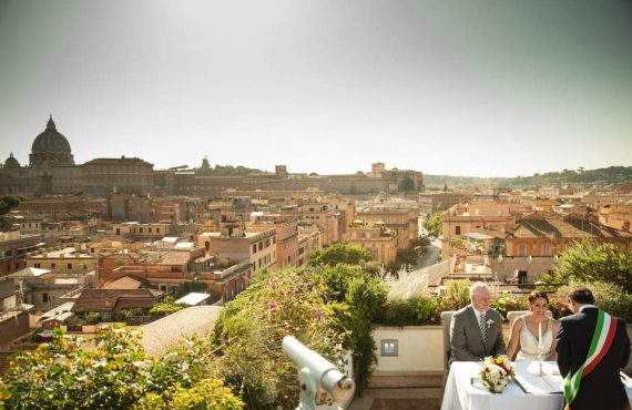 Ceremony with view Rome